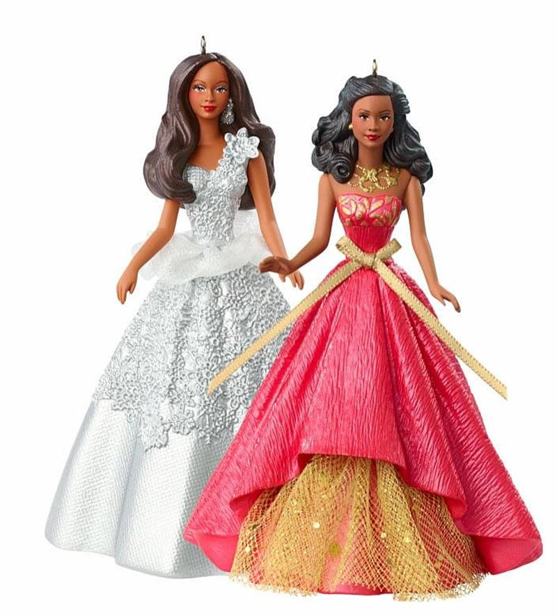 Barbie 2013 2014 holiday barbie ornaments box dml33 value and